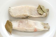 Frozen flounder Royalty Free Stock Photo