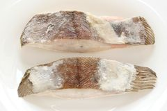 Frozen flounder Stock Photography