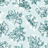 Frozen flowers, seamless pattern for your design Stock Images