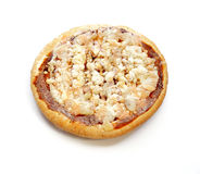 Frozen food Pizza on white background Royalty Free Stock Images