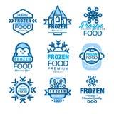Frozen food premium product set of logo templates hand drawn vector Illustrations Stock Photo
