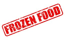 FROZEN FOOD red stamp text Stock Image