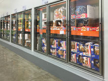 Frozen food selling Royalty Free Stock Photography
