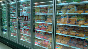 Frozen food selling at supermarket Stock Photo