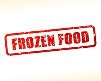 Frozen food text buffered Stock Photography