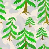 Frozen forest. stock illustration