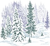 Frozen forest Royalty Free Stock Photo