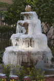 Frozen fountain Royalty Free Stock Images
