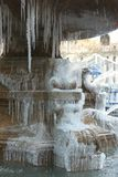 Frozen Fountain stock images
