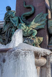 Frozen fountain in Zurich, Switzerland Royalty Free Stock Photos