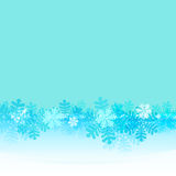 Frozen frame with blue snowflakes belt vector Royalty Free Stock Photo