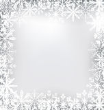 Frozen Frame Made of Snowflakes for Merry Royalty Free Stock Photos