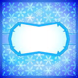 Frozen frame with snowflakes Royalty Free Stock Photography