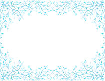 Frozen frame. Vector framework of the decorative frozen twigs Stock Images