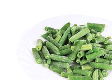 Frozen french beans. Royalty Free Stock Image