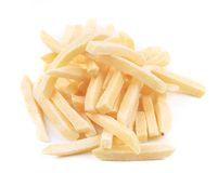 Frozen french fries. Royalty Free Stock Photography
