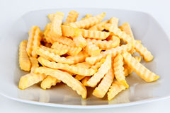 Frozen french fries Stock Image