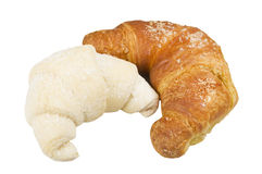 Frozen and fresh Croissants Royalty Free Stock Images