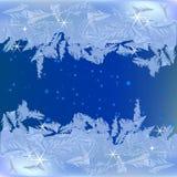 Frozen frost. On the window vector illustration