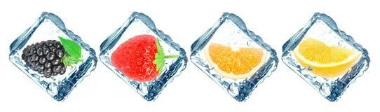 Frozen fruit Stock Image