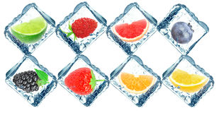 Frozen fruit Stock Image