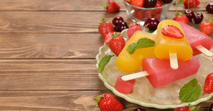 Frozen fruit juice Stock Photo