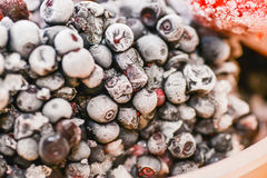 Frozen fruits Royalty Free Stock Images