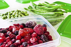 Frozen fruits and vegetables Royalty Free Stock Photos