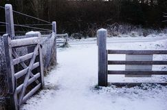 Frozen Gate Royalty Free Stock Image
