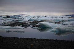 Frozen giants. Floating ice on the surface of glacier lagoon Royalty Free Stock Photography