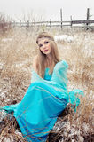 Frozen girl Royalty Free Stock Images