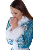 A frozen girl in a suit Snow Maiden Royalty Free Stock Photography