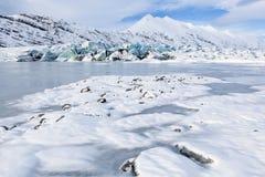 Frozen Glacial Lagoon Royalty Free Stock Photo