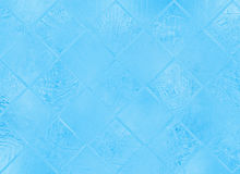 Frozen glass abstract blur winter texture Stock Photography
