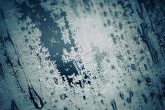 Frozen glass background Stock Image