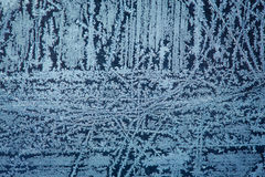 Frozen glass. Background made of winter frozen window glass Royalty Free Stock Photography