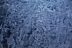 Frozen glass. Closeup of the frozen glass Stock Image