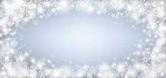 Frozen Glass Ice Snowflakes Bokeh Header Royalty Free Stock Photos