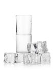 Frozen glass of iced vodka Royalty Free Stock Photo