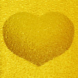 Frozen golden heart Royalty Free Stock Photo