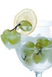 Frozen grapes and lemon Slice Stock Image