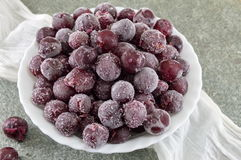 Frozen grapes in a white bowl Royalty Free Stock Image