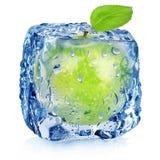 Frozen green apple Royalty Free Stock Photo
