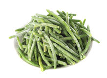Frozen green bean stock photography