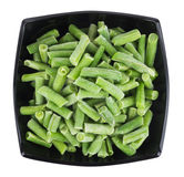Frozen green beans in bowl Royalty Free Stock Images