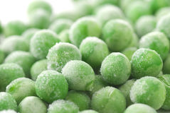 Frozen Green Peas royalty free stock image