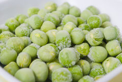 Frozen green peas Stock Photography