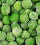 Frozen Green Peas as Background. Stock Image