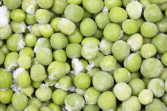 Frozen green peas Royalty Free Stock Images