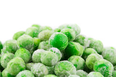 Frozen green peas. Close up. Whole background Royalty Free Stock Photography
